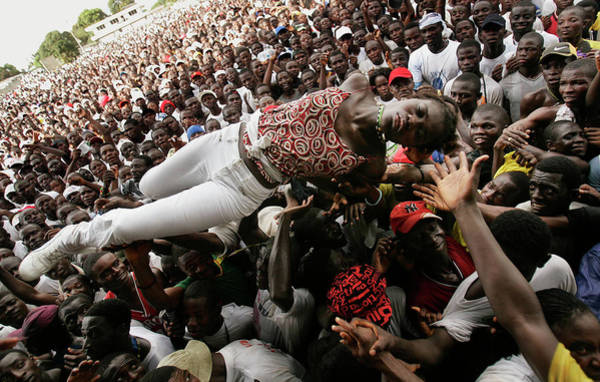 Democracy Photograph - Presidential Candidate George Weah by Chris Hondros