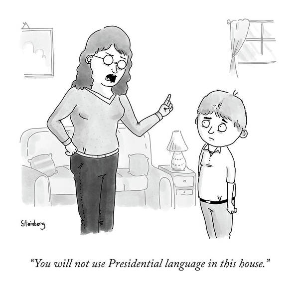 Wall Art - Drawing - Presidential Language by Avi Steinberg