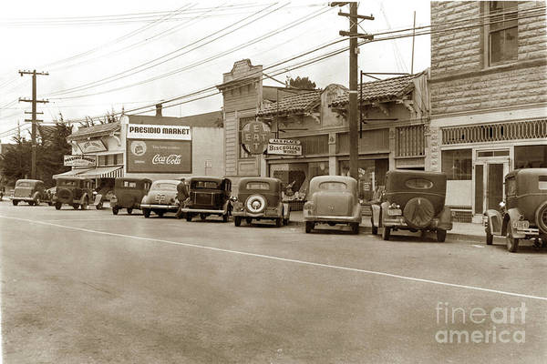 Photograph - Presidio Market And Al's Place On Lighthouse Avenue 1940 by California Views Archives Mr Pat Hathaway Archives