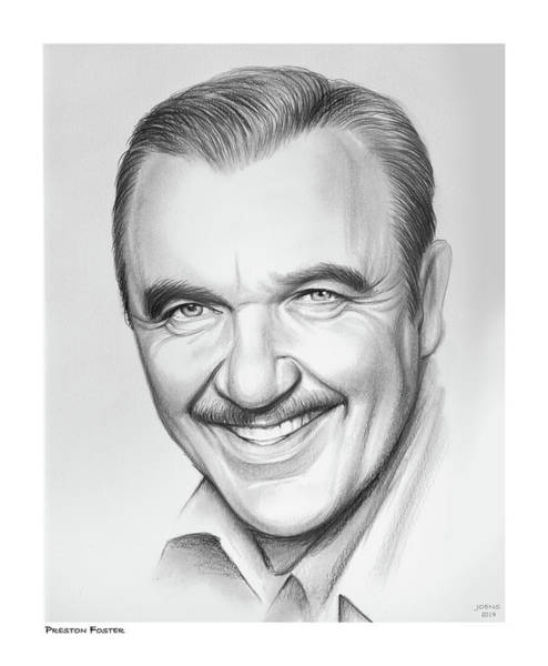 Wall Art - Drawing - Preston Foster by Greg Joens