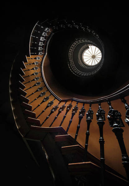Photograph - Pretty Brown Spiral Staircase by Jaroslaw Blaminsky