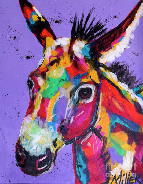 Wall Art - Painting - Pretty Donkey by Tracy Miller