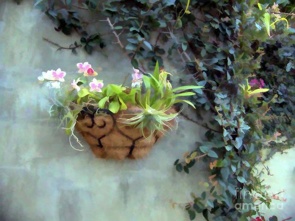 Digital Art - Pretty Flower Basket by Amy Dundon