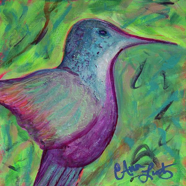 Wall Art - Painting - Pretty Humming Bird by Ann Lutz