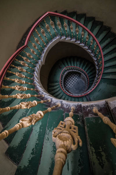 Photograph - Pretty Old Ornamented Staircase by Jaroslaw Blaminsky