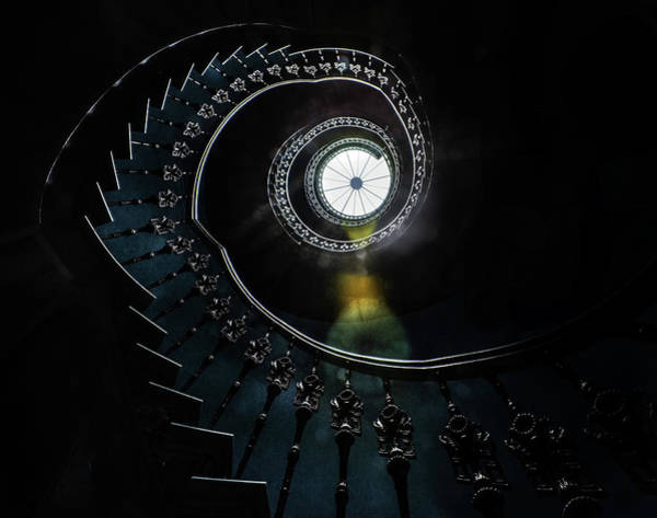 Wall Art - Photograph - Pretty Ornamented Spiral Staircase by Jaroslaw Blaminsky