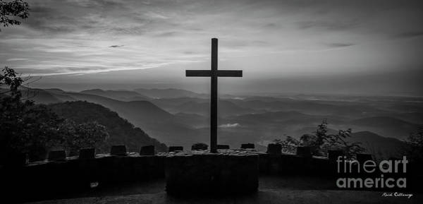 Wall Art - Photograph - Pretty Place Chapel B W The Son Has Risen Blue Ridge Mountain Art by Reid Callaway