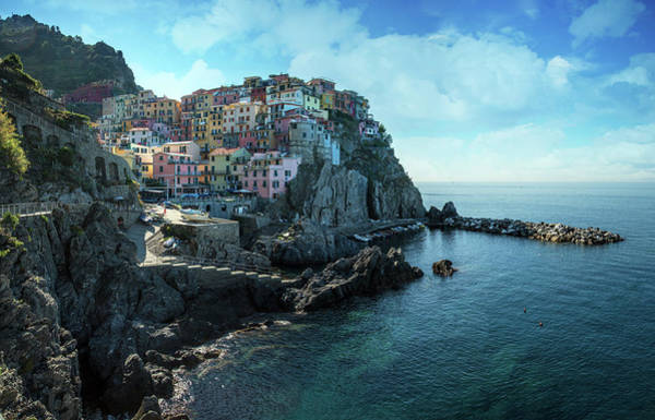 Wall Art - Photograph - Pretty Sunny Morning At Manarola by Jaroslaw Blaminsky