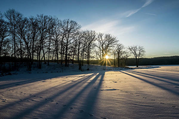 Photograph - Pretty Winter Sun Rise Scene by Sven Brogren