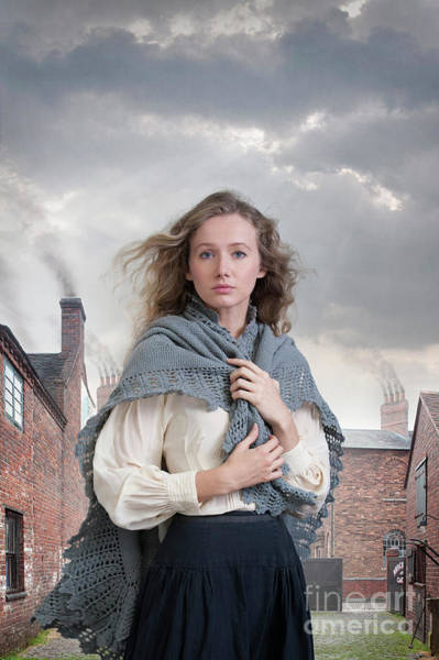 Chimnies Photograph - Pretty Working Class Victorian Woman  by Lee Avison