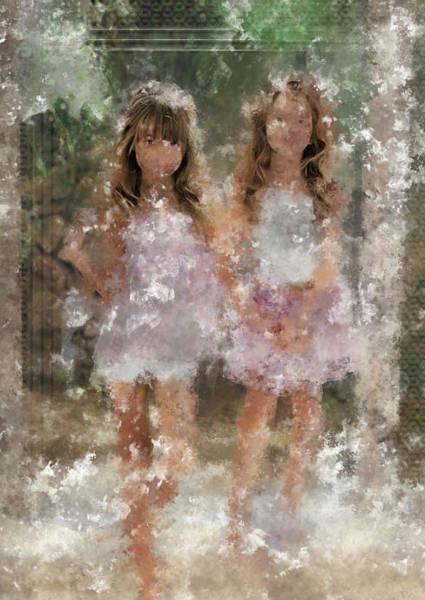 Digital Art - Pretty Young Girls by Mario Carini