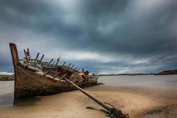 Oar Photograph - Prevailing Tide - Bunbeg Shipwreck by Images By Steve Skinner Photography