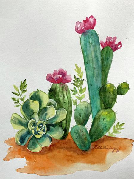 Painting - Prickly Cactus by Hilda Vandergriff