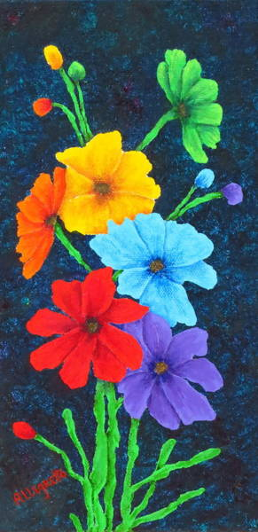 Wall Art - Painting - Pride Bouquet by Pamela Allegretto