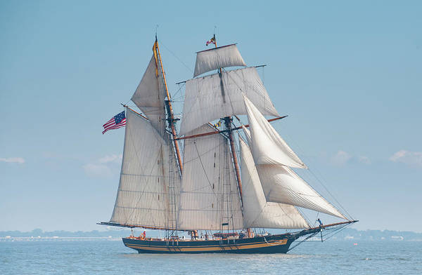 Photograph - Pride Of Baltimore Beating To Windward by Mark Duehmig