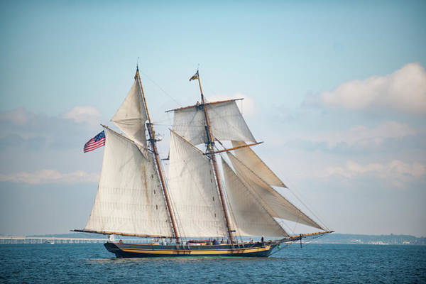 Photograph - Pride Of Baltimore II Makes Sail by Mark Duehmig