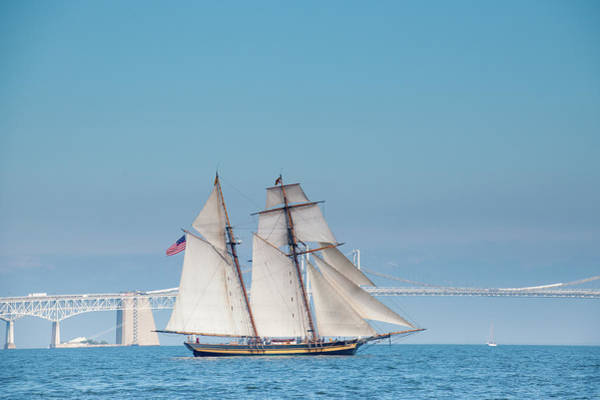 Photograph - Pride Of Baltimore On The Chesapeake by Mark Duehmig