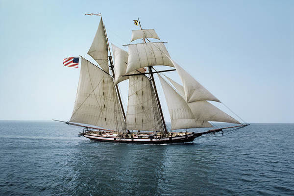 Exploration Photograph - Pride Of Baltimore Sailing On The by Greg Pease