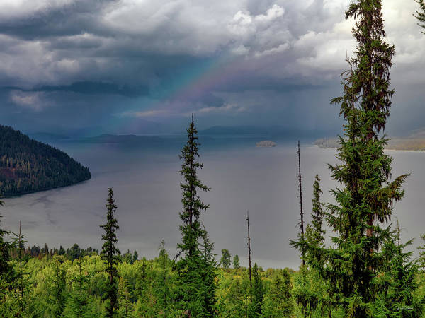 Priest Lake Photograph - Priest Lake Rainbow by Leland D Howard