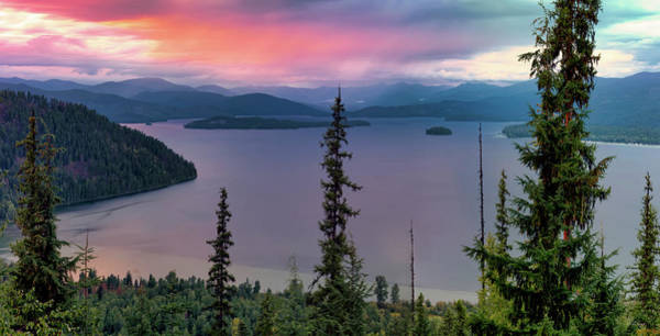 Photograph - Priest Lake Sunset View by Leland D Howard