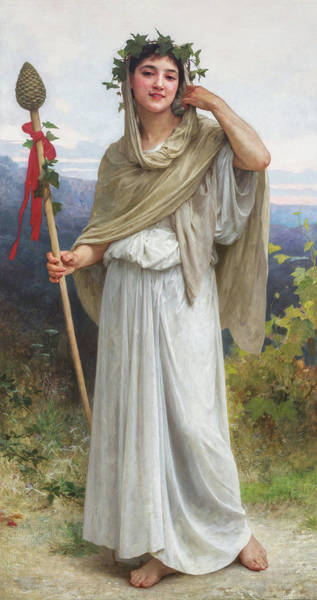 Drunken Wall Art - Painting - Priestess Of Bacchus, 1894 by William-Adolphe Bouguereau