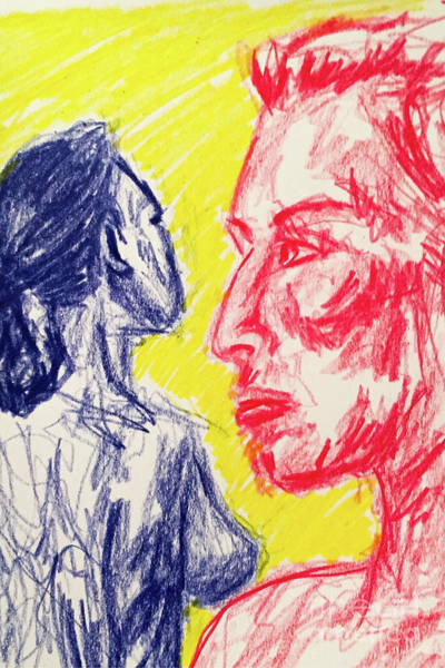 Primary Colors Drawing - Primary Women by Robert Yaeger