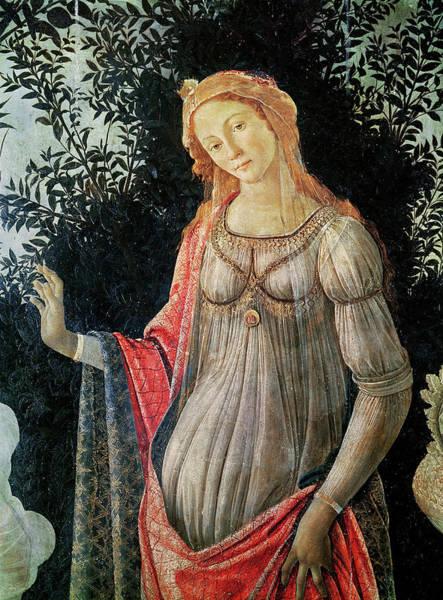 Botticelli Wall Art - Painting - Primavera, Detail Of Venus By Botticelli by Sandro Botticelli