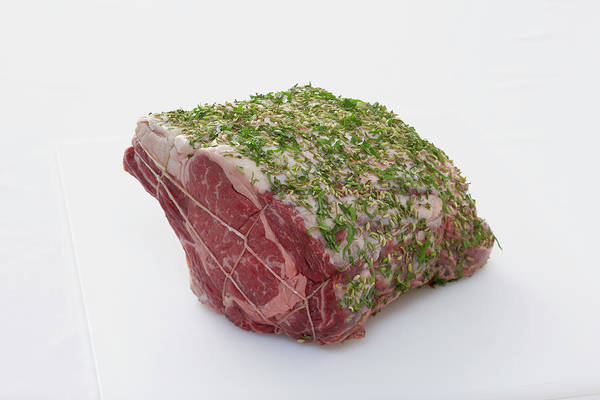 Raw Meat Photograph - Prime Rib Of Beef by Lew Robertson, Brand X Pictures