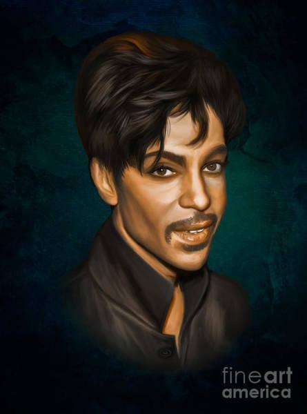 Prince Rogers Nelson Wall Art - Digital Art -  Prince by Andrzej Szczerski