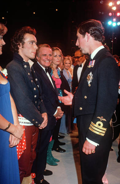 Ant Photograph - Prince Charles Meets Adam Ant by David Levenson