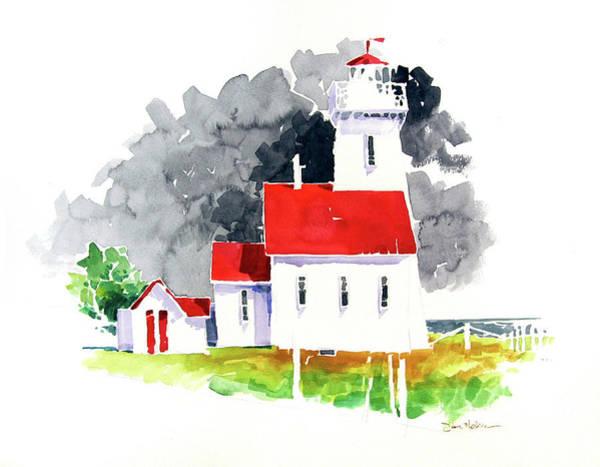 Prince Edward Island Painting - Prince Edward Island Lighthouse by Dan Nelson