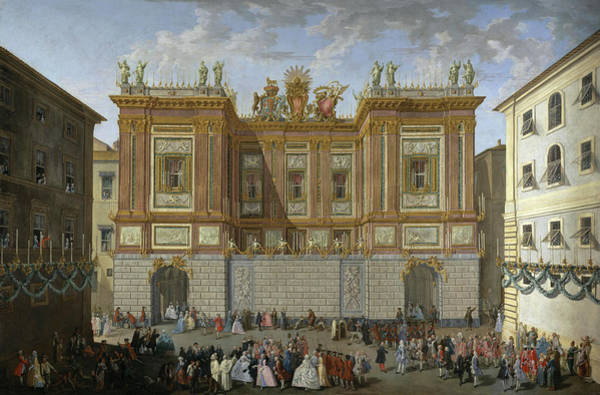 Wall Art - Painting - Prince James Receiving His Son, Prince Henry, In Front Of The Palazzo Del Re by Unknow artist