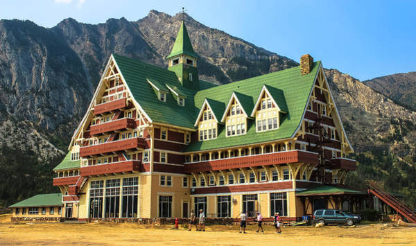 Photograph - Prince Of Wales Hotel In Alberta Canada by Ola Allen