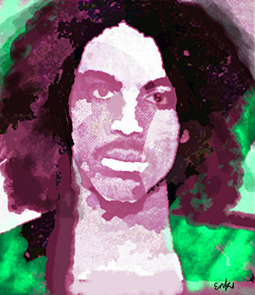 Beautiful Park Drawing - Prince Purple And Green  by Enki Art
