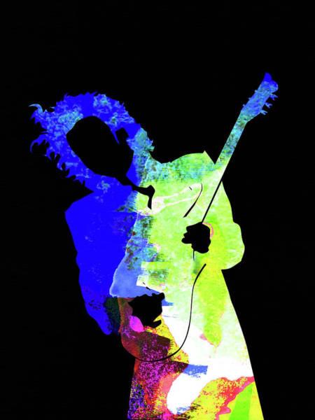 Jazz Mixed Media - Prince Watercolor II by Naxart Studio