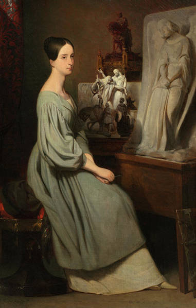 Wall Art - Painting - Princess Marie D'orleans In Her Studio, 1838 by Ary Scheffer