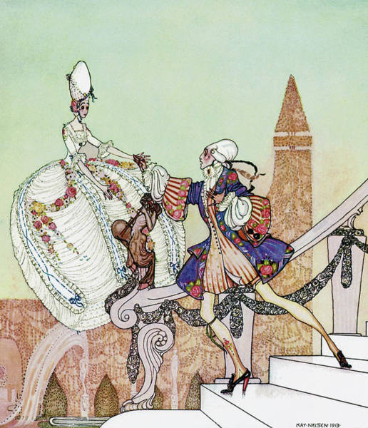 Wall Art - Painting - Princess Mignon Minette And Prince Soushi Brought Up By Fairies by Kay Nielsen