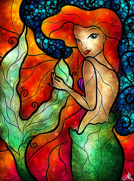 Mixed Media - Princess Of The Seas by Mandie Manzano