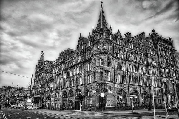 Wall Art - Photograph - Princess Street And St Andrews - Edinburgh In Black And White by Bill Cannon