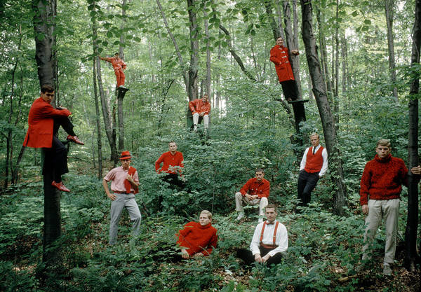 Wall Art - Photograph - Princeton Men In Red by Yale Joel