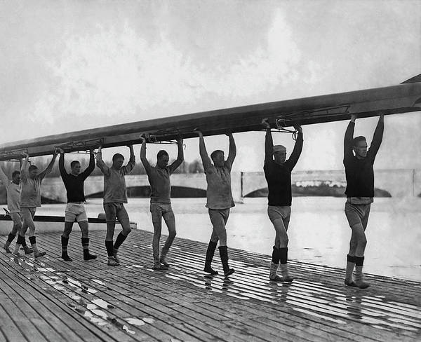 Rowing Wall Art - Photograph - Princeton Rowing Team by Paul Thompson/fpg