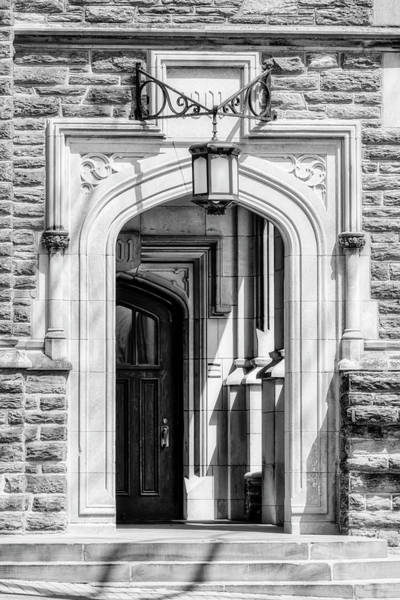 Photograph - Princeton University 1901 Laughlin Hall Bw by Susan Candelario