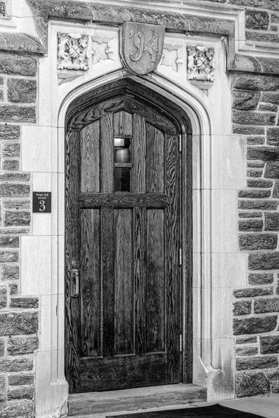 Photograph - Princeton University Wright Hall Bw by Susan Candelario