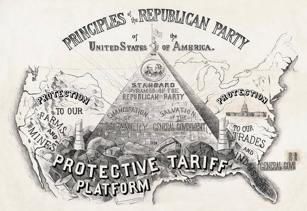 Wall Art - Photograph - Principles Of The Republican Party 1888 by Daniel Hagerman
