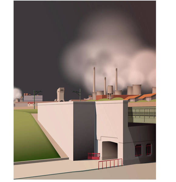 Wall Art - Painting - Prins Maurits Coal Mines by Nop Briex