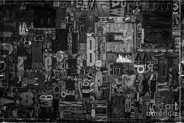 Wall Art - Photograph - Printer Type by Edward Fielding