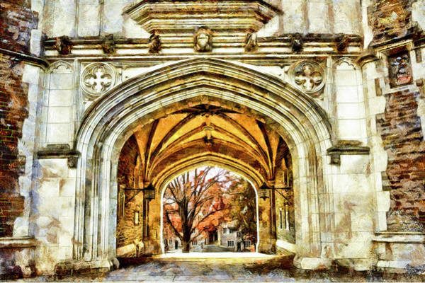 Wall Art - Photograph - Printon University Archway Gothic Building Princeton New Jersey by Geraldine Scull