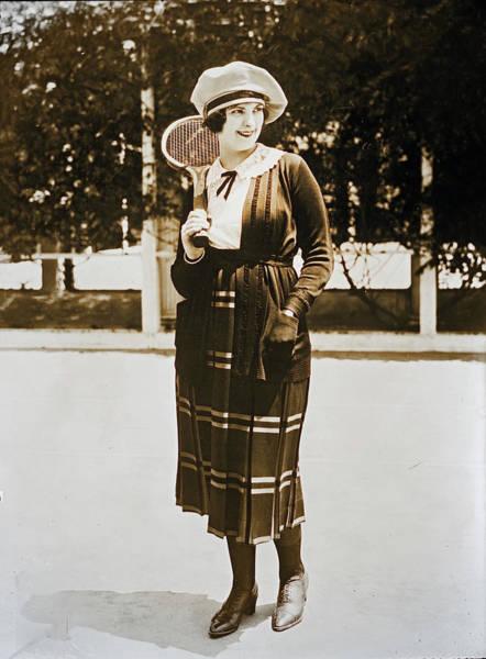 Photograph - Priscilla Dean In Tennis Outfit by Carlos Diaz