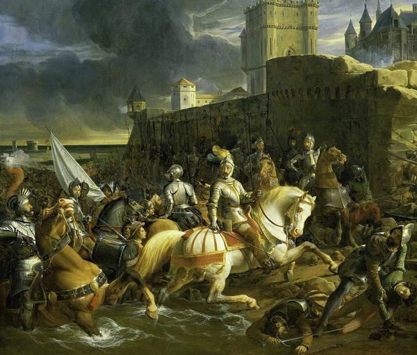 Wall Art - Painting - Prise De Calais, 1558 by Francois-Edouard Picot