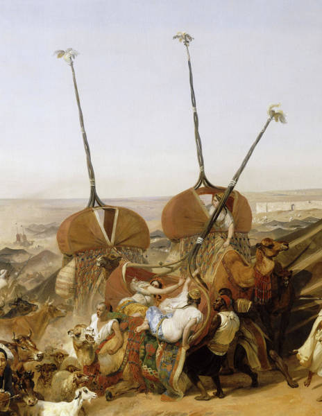 Wall Art - Painting - Prise De La Smala D'abd-el-kader Par Le Duc D'aumale A Taguin, 16 Mai 1843 by Emile Jean Horace Vernet